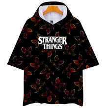 Stranger Things 3 American TV Series Related Products 3D Colour Printing Hooded Short Sleeve T-shirt a Generation of Men And Wom(China)