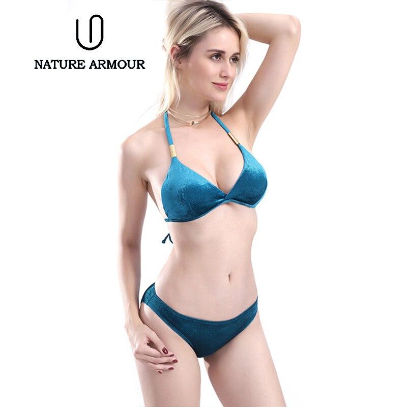 European And American Swimsuit Women Bikini 2019 Velvet Swimsuit