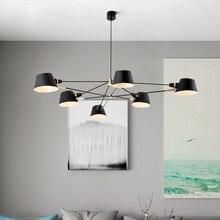 נורדי נברשת תאורה/מנורת מודרני סלון תליית אור קבועה השעיה שחור מנורות אוכל חדר שינה