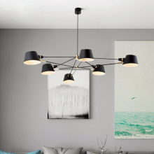 Nordic Chandelier Lighting/Lamp  Modern Living Room Hanging Light Fixture  Black Suspension Lamps For Dinning Room Bedroom