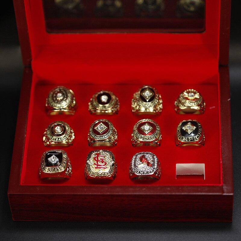 UUNICO PC Louis Cardinals 11 anneau de champion de baseball consécutif ligue fan collection commémorative alliage anneaux hommes anneau