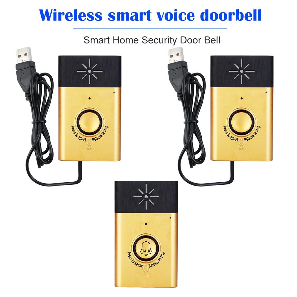 Wireless Voice Intercom Doorbell 2-way Talk Monitor with 1*Outdoor Unit W1F2