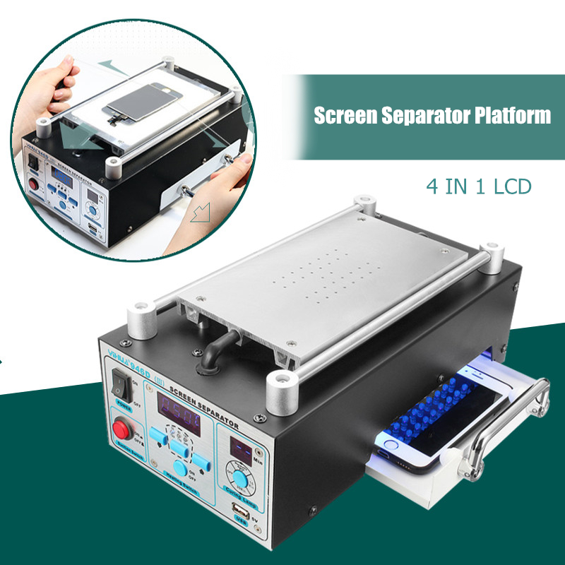 4 In 1 Build-in Vacuum LCD Touch Screen Separator Machine Kit For IPhone For Samsung For HUAWEI For Xiaomi Phone Glass Repair