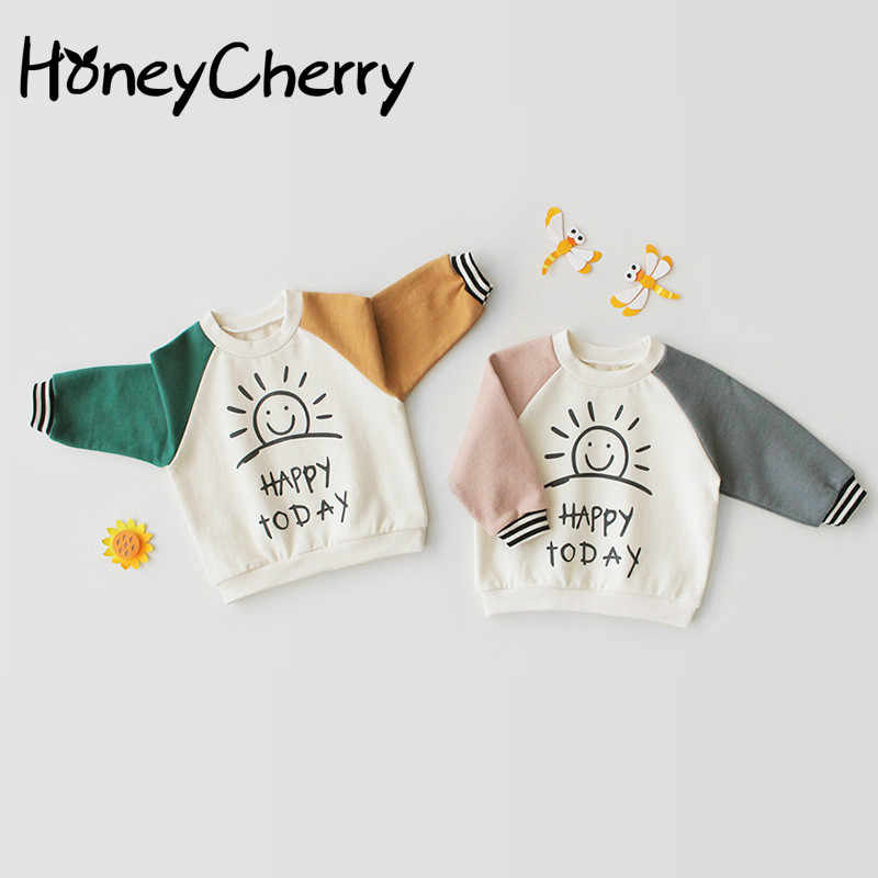 Toddler Girl Tops Boys And Girls Autumn Long Sleeve T-shirt Baby Clothes Pure Cotton Cute Bottom Shirt Jacket
