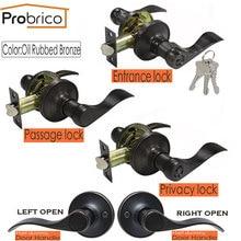 Probrico дверные ручки замок для интерьера/дверные замки для спальни масляные бронзовые ручки Европейский Стиль передний задний дверной рычаг фурнитура