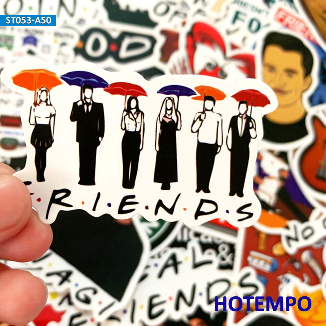 50pcs Friends US TV Funny Six People Classic Comedy Style Stickers For Mobile Phone Laptop Luggage Case Bike Anime Art Stickers