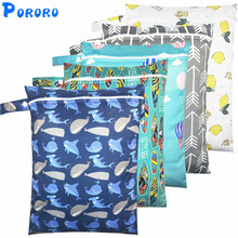 Waterproof Wet Bag Baby Cloth Diaper Bags Travel Wet Dry Bags Wholesale  Zipper Reusable Baby Nappy Rubbish Wet Bag 30x40cm [mumsbest] new large wet bag for baby cloth nappies bag pail liner for cloth dirty diapers waterproof pul reusable mummy bags