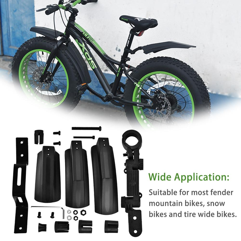 2PCS Front Rear Mud guard Fenders for 20inch//26inch Snow Bicycle Bike Wide Tire