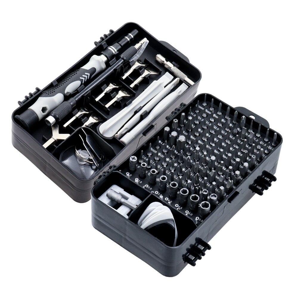 135/25 in 1 S2 Screwdriver Set of Screw Driver Bit Set Multi-function Precision Mobile Phone Repair Device Hand Tools Torx Hex
