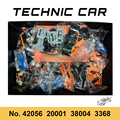 В наличии техника серии 911 спортивные Voiture GT3 RS Супер гоночный автомобиль 42056 20001 38004 конструкторных блоков, Детские кубики, модели для мальчик...