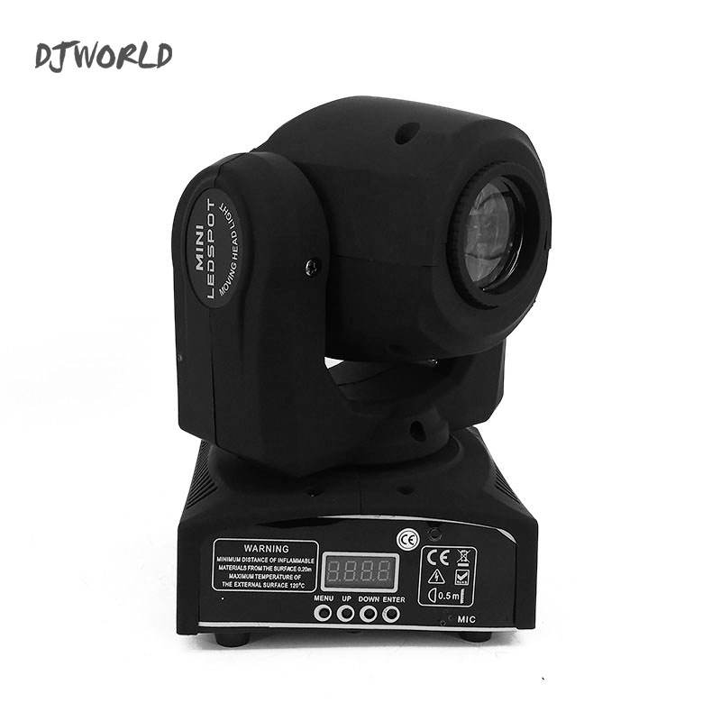 Djworld 30W LED Spot Moving Head Light LED DJ Gobo 30W RGB Moving Heads Lights DMX 512 Super Bright Luces Discoteca Decoration