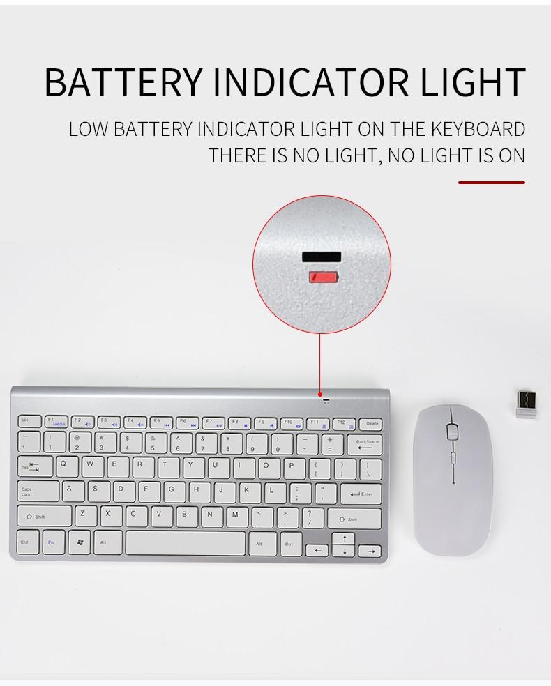 para ios android 2.4g mini teclado mouse
