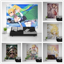 Table-Bed-Cover Tapestry Art Sinon Wall-Hanging Dorm Home-Decor Sword Alice Sofa Asuna