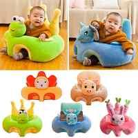 Baby Sofa Sitz Abdeckung Anti-herbst Infant Plüsch Stuhl Lernen zu Sitzen Fütterung Stuhl Infant Kleinkind Nest Puff Keine baumwolle Füllung