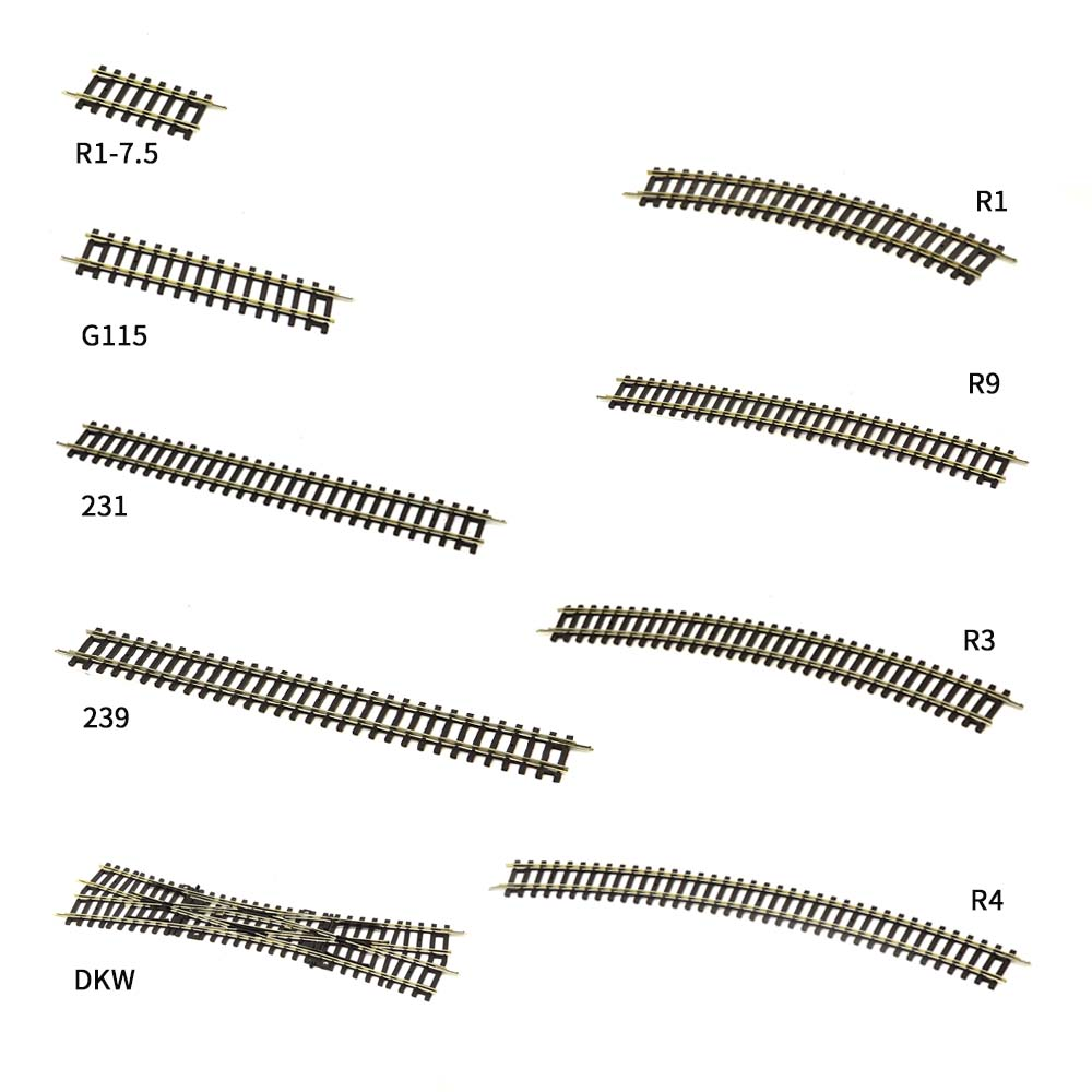 3pcs HO Train Model Train Track Straight Rail  1:87 Model Railway Accessories