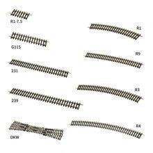 3 sztuk HO Model pociągu tor kolejowy prostych 1:87 Model akcesoria do kolejek