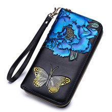 Wallet Lady Long Leather Zipper Fashion Personality Clutch Bag Women Genuine