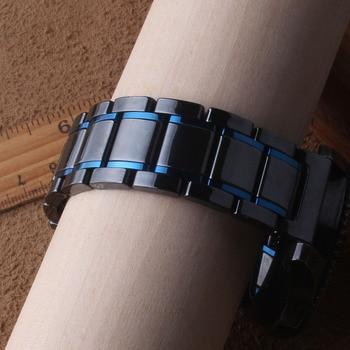 Correa de reloj de cerámica negra y azul nueva correa de reloj de estilo 22mm correa de reloj gear s3 reloj huawei reloj gt galaxy reloj 46mm
