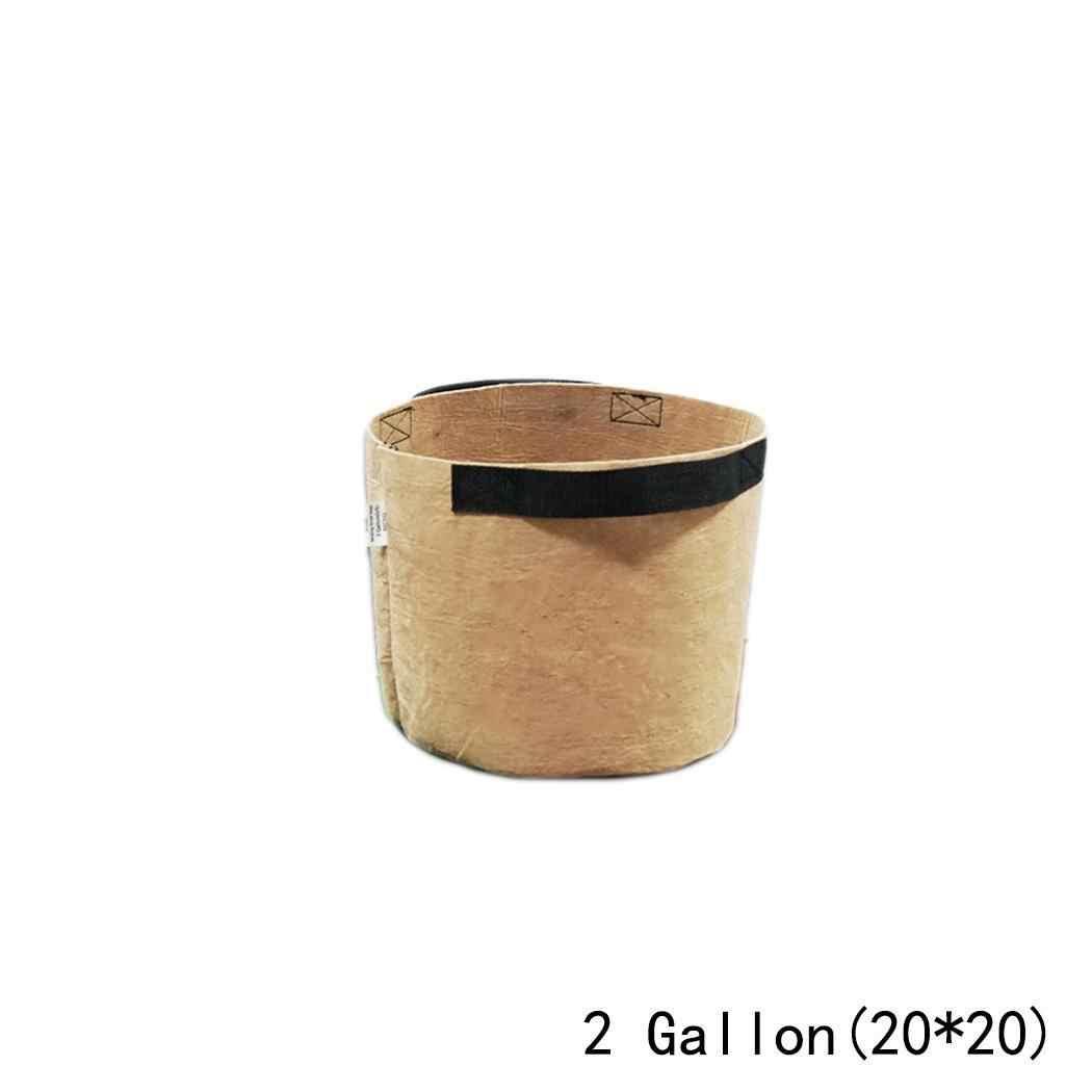 Нетканые тканевые горшки горшок для растений контейнер для проращивания зеленый, коричневый, черный садовые мешки для выращивания
