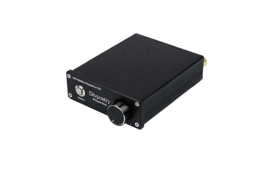 Dilvpoésie amplificateur de boîte Phono hifi préampli phono mm mc lecteur de disque vinyle préamplificateur Audio stéréo préampli phono