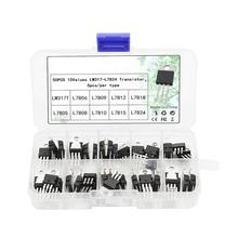 50 Stuks Voltage Regulator Doos Transistor Assortiment Kit 10 Waarde LM317T L7805 L7806 L7808 L7809 L7810 L7812 L7815 L7818 L7824(China)
