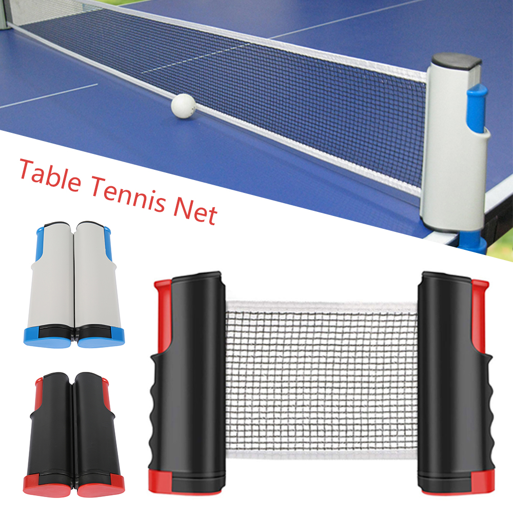 Portable Table Tennis Net Professional Ping Pong Sports Trainning Mesh Net Retractable Ping Pong Post Net Rack For Any Table