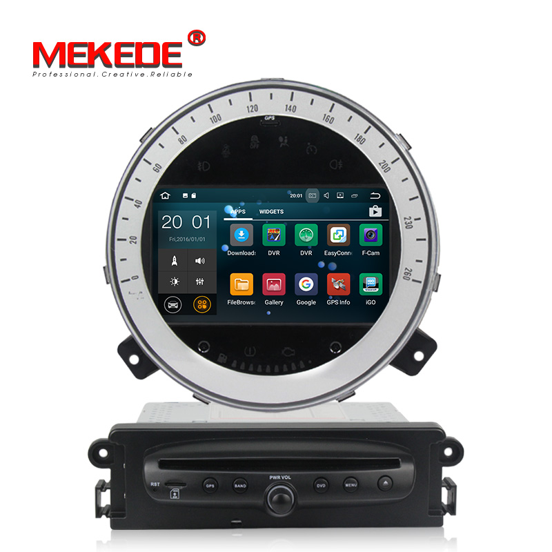 Fit for BMW Mini Cooper 2006 2013 car gps dvd radio player with android 8 canbus USB carplay BT GPS Navigation free shipping|Car Multimedia Player| |  - title=