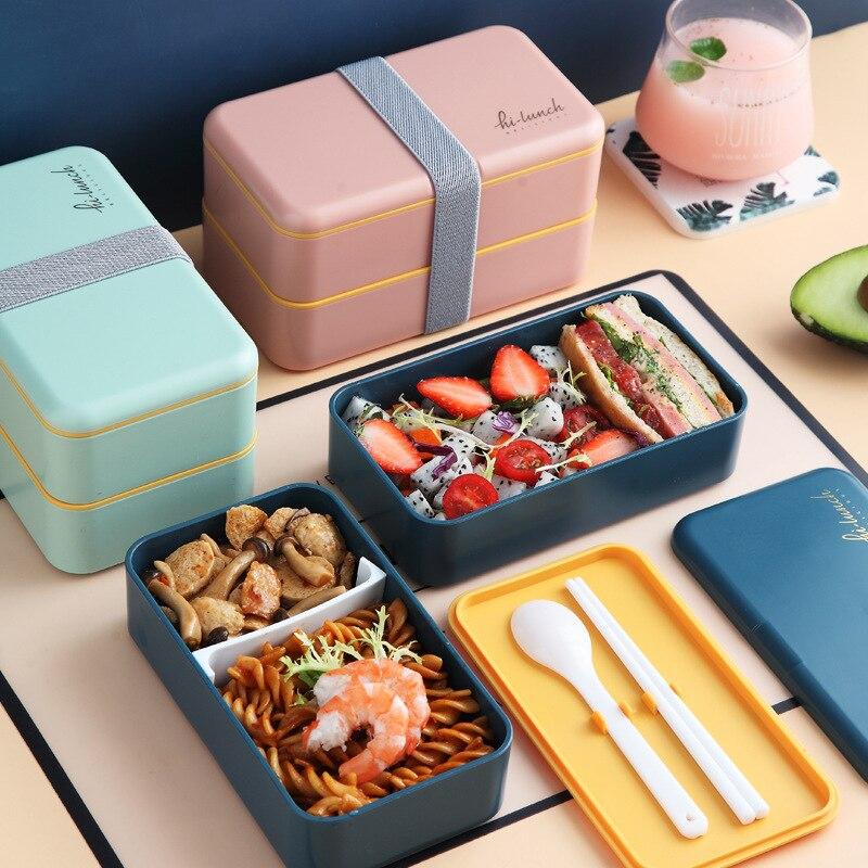 Микроволновая печь PP Пластик здоровый Материал Коробки для обедов столовая посуда Еда контейнер для хранения коробка для завтрака Пикник К...