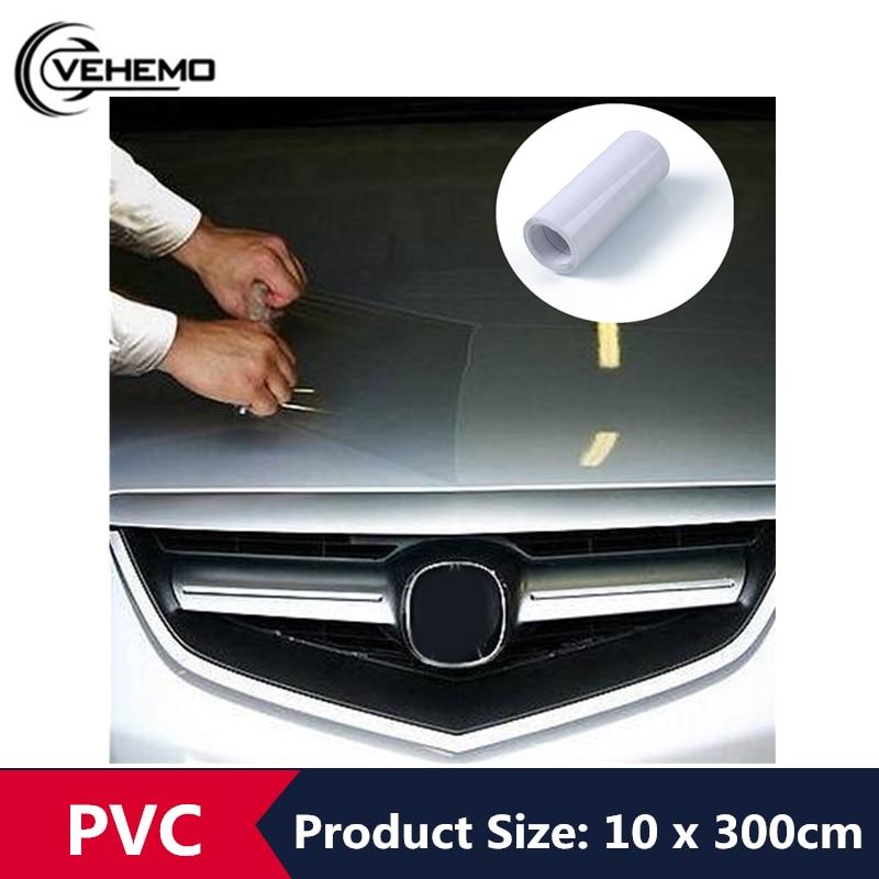 10 CM * 3 M Couro Do Corpo Do Carro Etiqueta Do Carro PVC Transparente Pele de Rinoceronte Lidar Com Bumper Capa Pintura Protetora Transparente filme Etiqueta Do Carro Auto