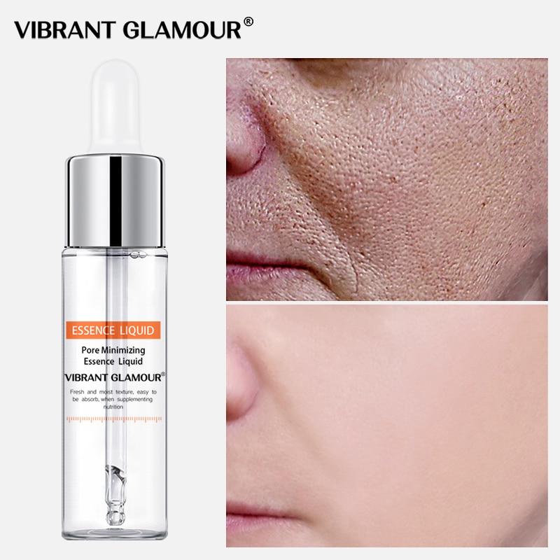 VIBRANT GLAMOUR Shrink Pores Face Serum Moisturizing Whitening Blemish Anti-wrinkle Natural Essence Firming Nourish Face Care