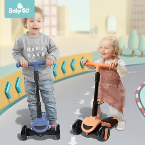 BabyGo Children Scooter with 3 In 1 Removable Seat Scooters for 3 Wheel Kick Scooters Adjustable Height Kids Outdoor Sport Toy