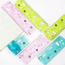 Cute and fun soft straight ruler Transparent thick material Drawing line stationery