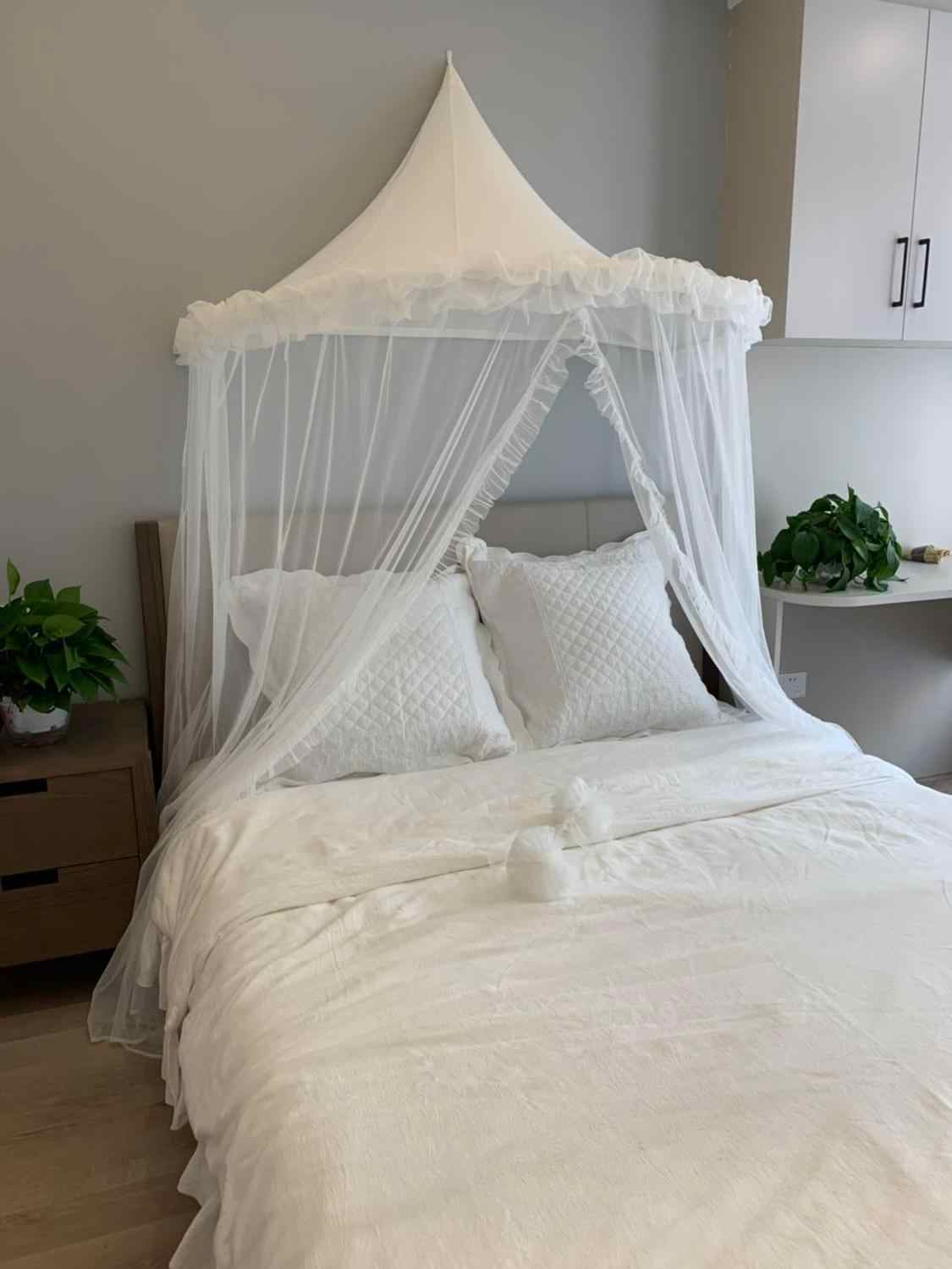 baby mosquito net crib netting white canopy bed curtains toddler kids play tent house baby girls bedroom decor bed tent children