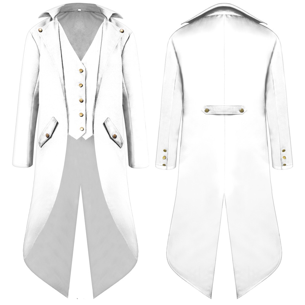 H40b5f8988ae74d3b82a7802d532ac593N vintage Medieval Robe Cosplay Costume vintage men's trench Men's Coat Tailcoat Jacket Gothic Frock Coat Uniform Praty Outwear#g3
