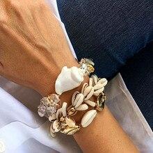 Boho puka shell bracelet wax rope friendship 2019 christmas gifts for women tibetan jewelry natural gold statemen