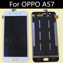 цена на High quality For OPPO A57 LCD Display+Touch Screen+tools Digitizer Assembly Replacement for 5.2 inch