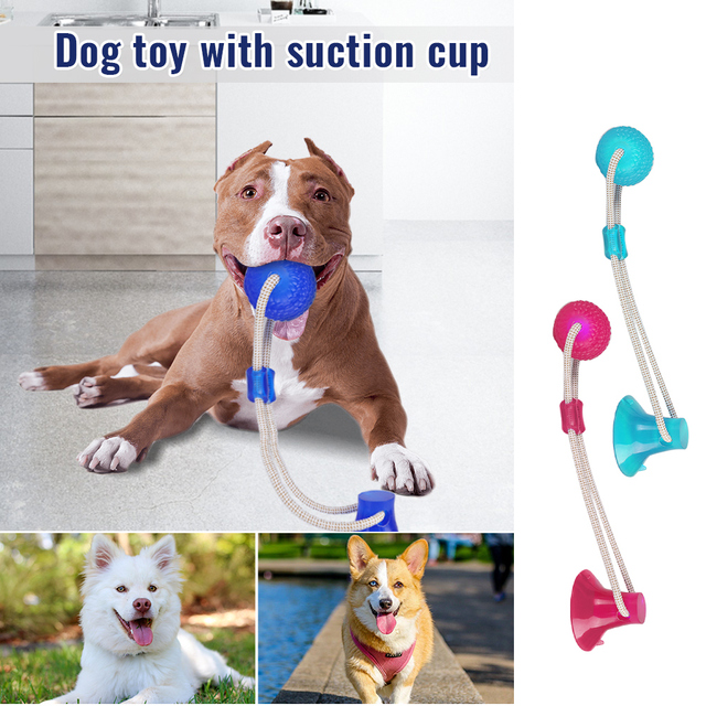 Funny Pet Dog Tug Toys Pets Suction Toy For Small Medium Puppy Dogs Tooth Cleaning Supplies 1