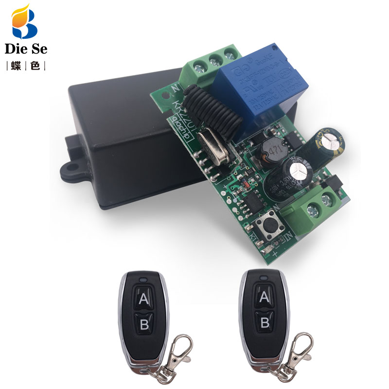 433MHz Universal Wireless Remote AC 110V 220V <font><b>1CH</b></font> <font><b>rf</b></font> Relay and Transmitter Remote Control Garage/gate/Light/Fan/Home appliance image
