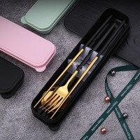 Tuuth conjunto de jantar talheres talheres aço inoxidável faca garfo colher louça conjunto com caixa ferramentas jantar ocidental Aparelhos de jantar     -
