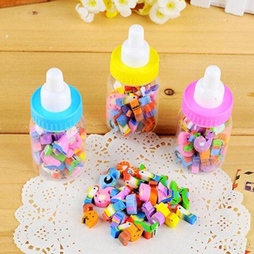 1Box/28Pcs Mini Cute Cartoon Number Rubber Pencil Eraser For Kids Stationery Gift