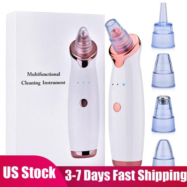 Eliminador de espinillas por succión al vacío, limpiador de poros faciales por succión al vacío, microdermoabrasión con diamantes, máquina de belleza