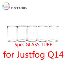 5pcs FATUBE Straight glass Cigarette Accessories for Justfog Q14 1.8ml Tank(China)