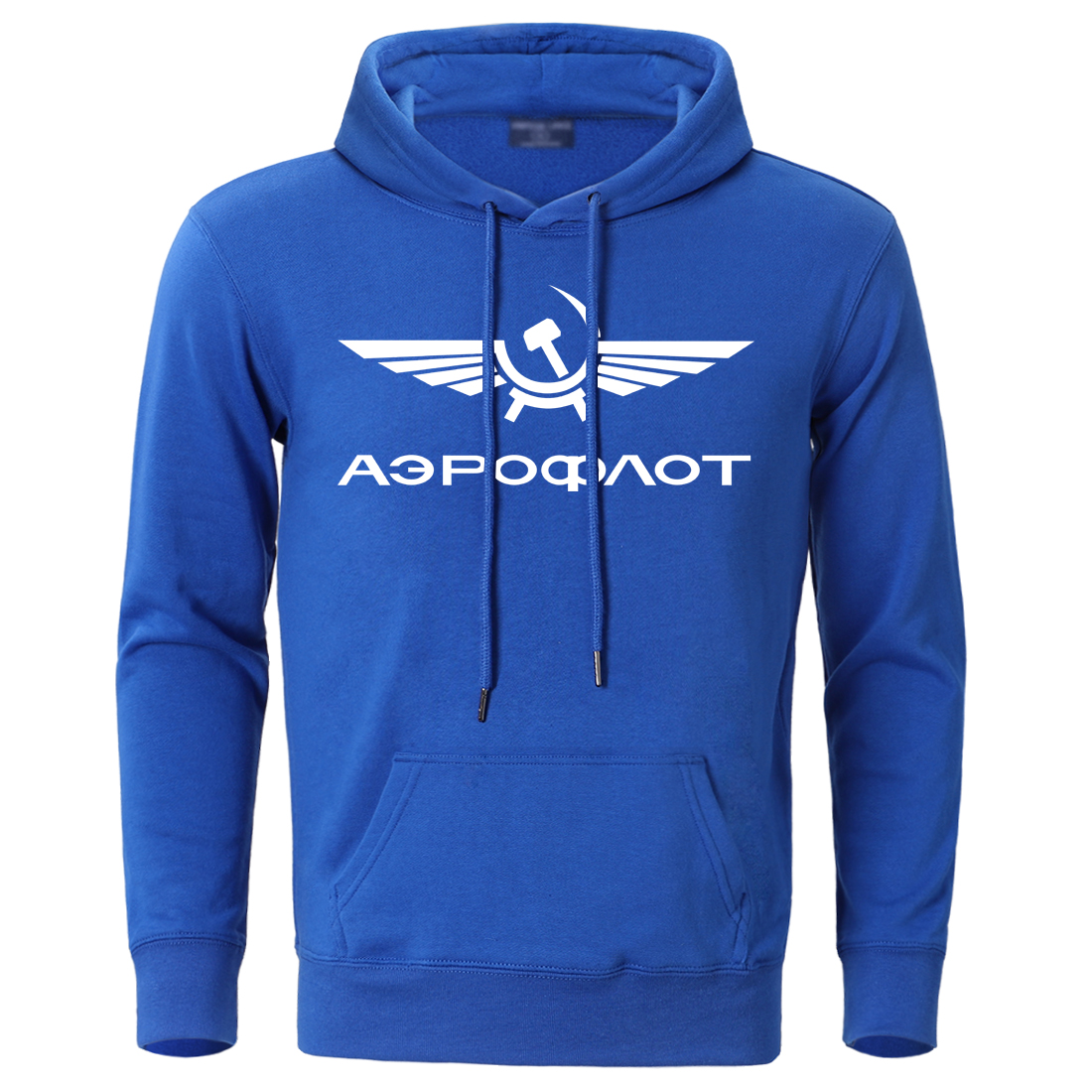 Aeroflot CCCP Civil Aviation Ussr Russia Airforce Hip Hop Hoodies Sweatshirts Mens 2019 Autumn Winter Simple Print Streetwear