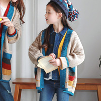 Children's Wear Boy Girl Sweater Coat Personality Family Matching Outfits Impingement Fashion Cardigan Girl Children's Pullover