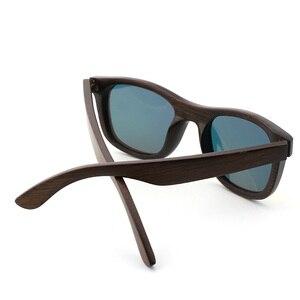 Image 3 - 최고의 수제 럭셔리 선글라스 남자 편광 된 얼룩말 빈티지 대나무 나무 여성 선글라스 안경 케이스 상자와 높은 품질