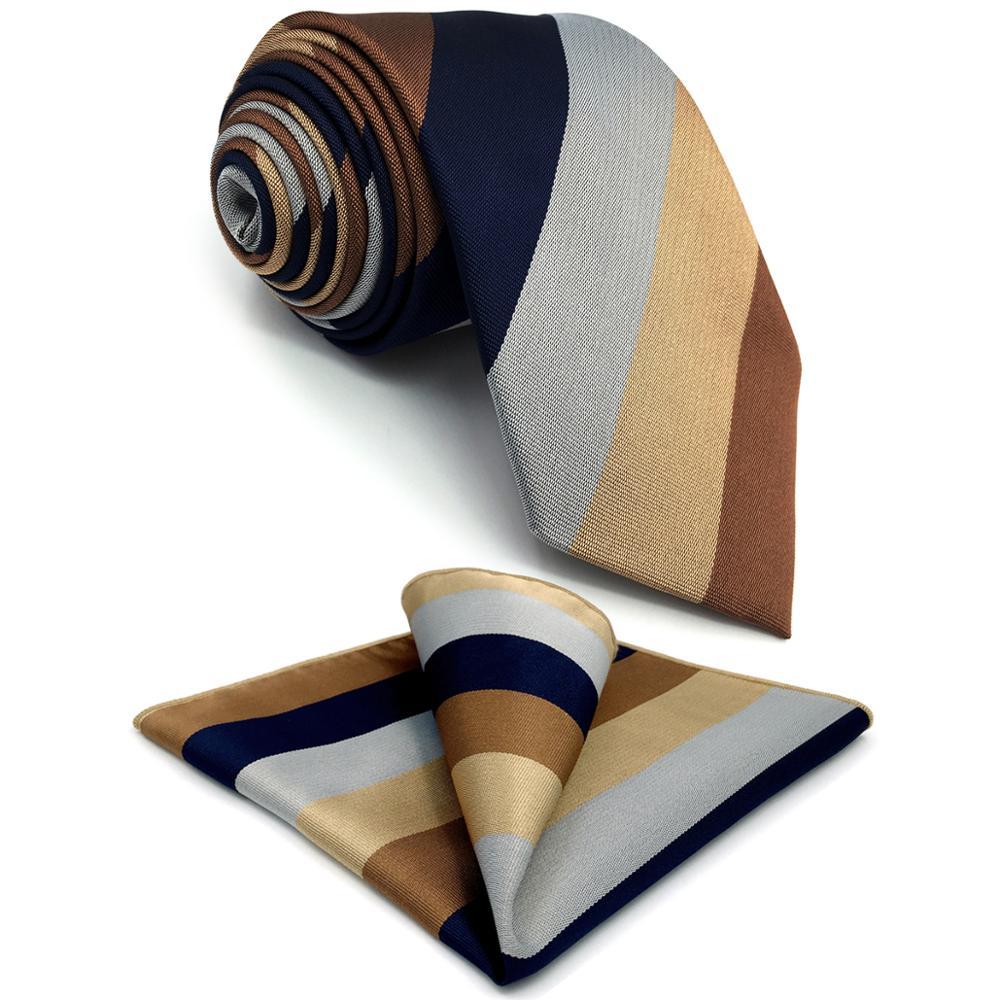 G13 Multicolor Striped Mens Neckties Silk Fashion Classic Ties For Men 63