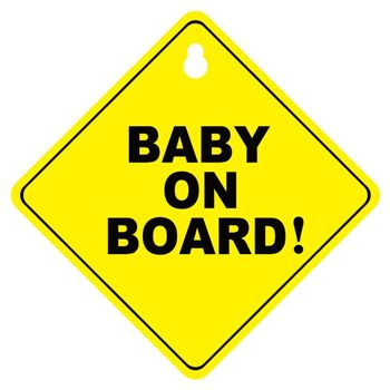 BABY ON BOARD Stroller Safety Car Window Sticker Yellow Reflective Warning Sign cool wing style reflective car sticker yellow