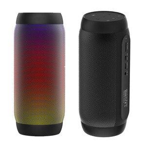 Image 1 - Waterdichte Draagbare Luidsprekers Bluetooth Kolom Draadloze Nfc Bluetooth Speaker Surround Krachtige Boombox Bass Hifi Tf Fm Led Licht