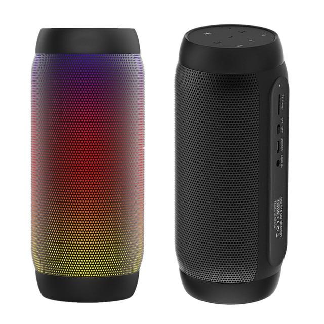 Waterdichte Draagbare Luidsprekers Bluetooth Kolom Draadloze Nfc Bluetooth Speaker Surround Krachtige Boombox Bass Hifi Tf Fm Led Licht
