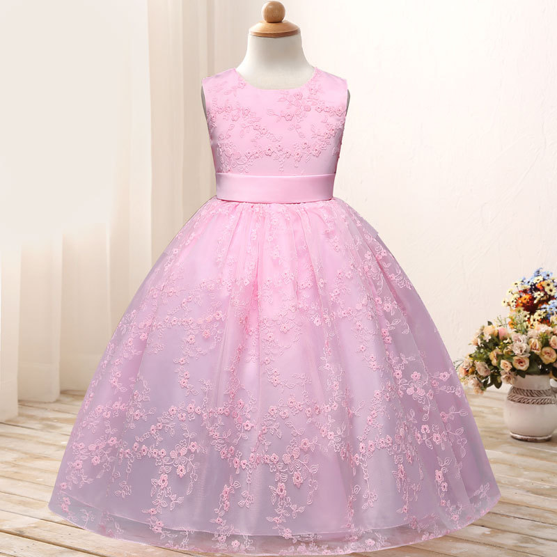 2019 Summer Hot Selling Girls Mesh Dress CHILDREN'S Dress Embroidery Princess Dress Childrenswear